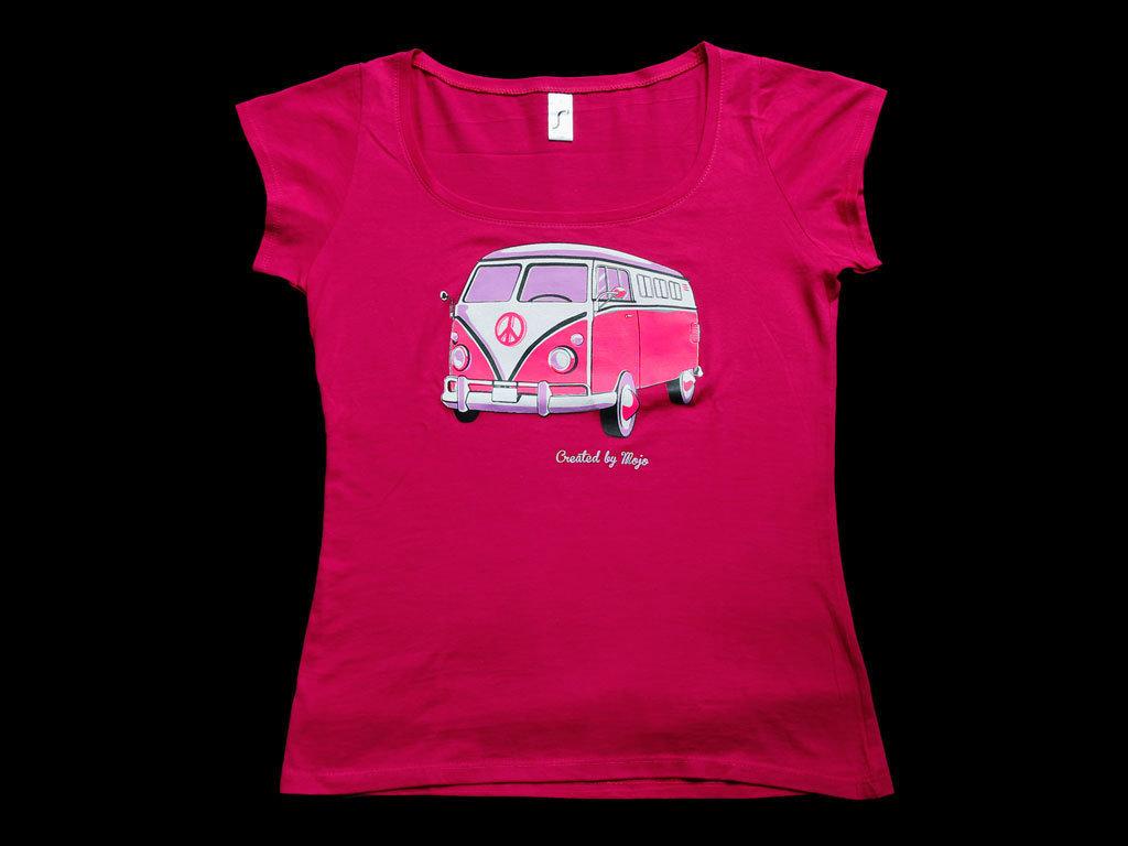 damen t shirt mit motiv vw bus samba aktion. Black Bedroom Furniture Sets. Home Design Ideas